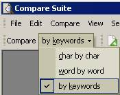 Comparison by keywords was developed to help people to compare non-related documents. You could never notice the difference unless using comparison by keywords.